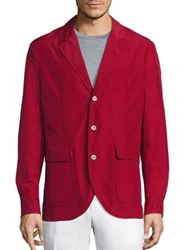 Saks Fifth Avenue Solid Long Sleeves Sportcoat Red