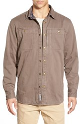 Gramicci 'Canyon' Twill Shirt Jacket With Flannel Lining Hawk