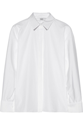 Prabal Gurung Dolman Sleeved Cotton Poplin Shirt White