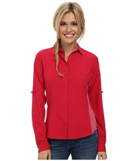 Arc'teryx Libere Comp L S Vanda Orchid Women's Long Sleeve Button Up Red
