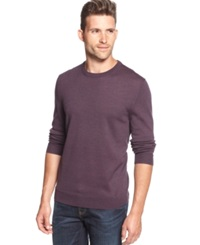 Club Room Big And Tall Solid Merino Blend Crew Neck Sweater Vintage Grape