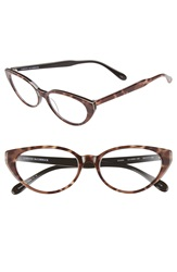 Corinne Mccormack 'Diana' 53Mm Cat Eye Reading Glasses Tan Brown
