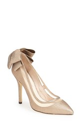 Women's Menbur 'Crusy' Glitter Pointy Toe Pump Gold