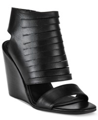 Kelsi Dagger Madge Wedge Sandals Women's Shoes Black