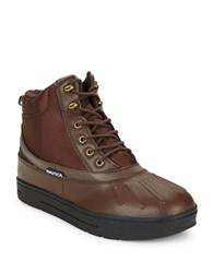 Nautica New Bedford Duck Boots Brown