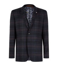 Ted Baker Pacino Check Wool Jacket Male Black