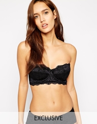 Pour Moi Pour Moi Exclusive To Asos B F Amour Longline Bra Black
