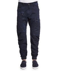 G Star Zip Pocket Twill Cargo Pants Imperial Blue Imperial Blue Maz