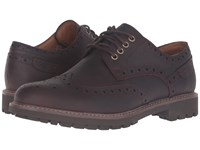 Clarks Montacute Wing Chestnut Interest Leather Men's Lace Up Wing Tip Shoes Brown