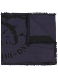 Diesel 'Indian' Scarf Blue