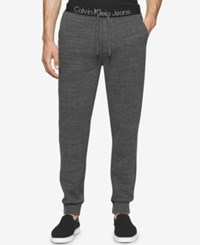 Calvin Klein Men's Logo Waistband Sweatpants Medium Charcoal Heather