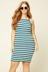 Forever 21 Plus Size Striped Bodycon Dress
