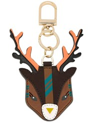 Tory Burch 'Ruth The Reindeer' Keyring Brown