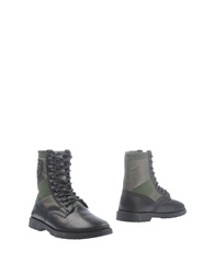 Armani Jeans Ankle Boots Military Green