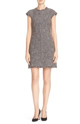 Rebecca Taylor Women's Cap Sleeve Houndstooth Fit And Flare Dress