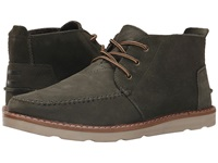 Toms Chukka Boot Tarmac Olive Suede Full Grain Leather Men's Lace Up Boots Orange