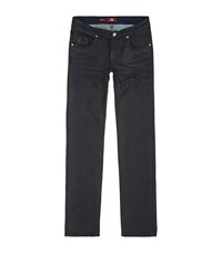 La Martina Coated Slim Straight Jeans Male Black