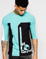 Pink Dolphin 3 4 Sleeve T Shirt With Ball Print Black