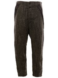 Lost And Found Ria Dunn Suspenders Detail Cropped Trousers Black