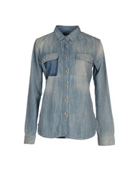 Franklin And Marshall Denim Shirts Blue