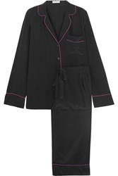 Equipment Avery Washed Silk Pajama Set Black