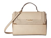Calvin Klein On My Corner Saffiano Satchel Wheat Braid Satchel Handbags Beige