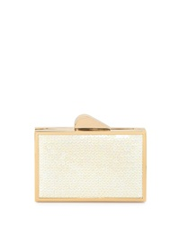 Franchi Odette Sequined Evening Clutch Bag Pearl