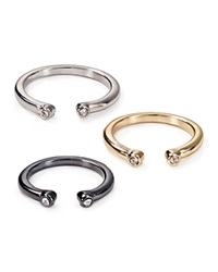 Abs By Allen Schwartz Two Tone Open Rings Set Of 3