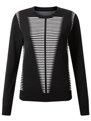 Alice By Temperley Somerset By Alice Temperley Long Sleeve Monochrome Jumper Black White