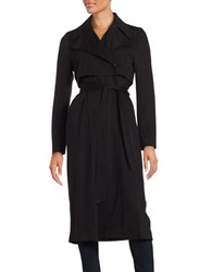 Karl Lagerfeld Belted Trench Coat Black
