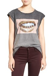 Pam And Gela Women's 'Frankie' Graphic Muscle Tee