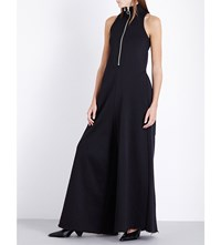 Marques Almeida High Neck Jersey Jumpsuit Black