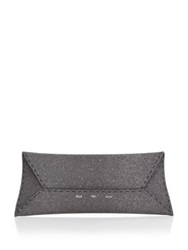 Vbh Manila Stretch Sparkle Envelope Clutch Dark Grey
