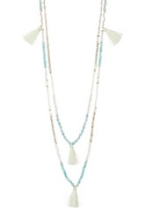 Nakamol Design Tassel And Bead Double Strand Necklace No Color
