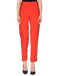 Nude Trousers Casual Trousers Women Red