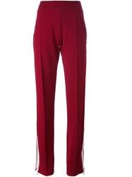 Aviu Side Stripe Track Pants Red
