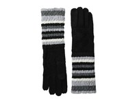 Smartwool Striped Chevron Glove Black Wool Gloves