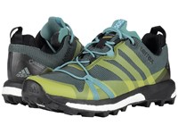 Adidas Terrex Agravic Gtx Vapour Steel Shock Slime Black Women's Running Shoes Yellow