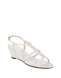 Caparros Sullivan Wedge Sandals Ivory
