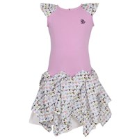 Jessie And James London Starlet Dress Marble Hearts Pink Purple