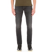 Tom Ford Faded Wash Slim Fit Tapered Jeans Dk Grey