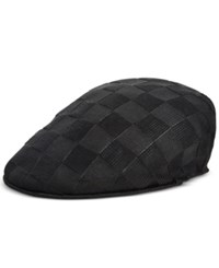 Sean John Men's Knit Blocked Newsboy Cap Black