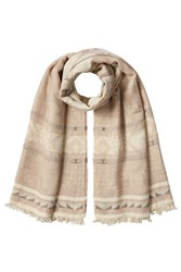 Polo Ralph Lauren Scarf With Cotton And Virgin Wool Beige