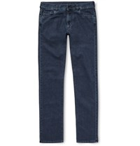 Canali Stretch Cotton And Cashmere Blend Denim Jeans Blue