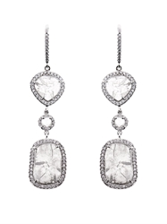Susan Foster Diamond Slice And White Gold Earrings