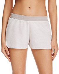Yummie Tummie By Heather Thomson Thermal Dolphin Shorts White Opal Gray