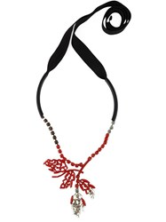 Marni Floral Necklace Red