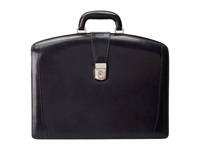 Bosca Old Leather Collection Partners Brief Navy Briefcase Bags
