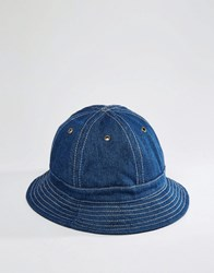 Asos Bucket Hat In Indigo Denim Navy Blue