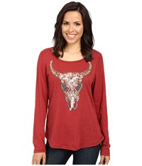 Ariat Ada Top Rosewood Women's Clothing Red
